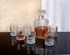 7-Piece Ingrid Crystal Whiskey Set
