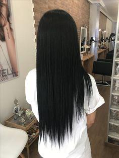 Haircuts For Medium Hair, Straight Hairstyles, Long Hair Wigs, Long Dark Hair, Shiny Hair, Hair Pictures, Hair Looks, Wig Hairstyles, Hair Lengths