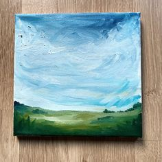 Original landscape oil painting, storm clouds, sky, interior decoration door XantheCS op Etsy