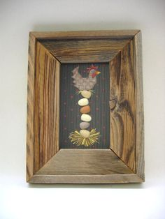 Primitive Folk Art Chicken Sitting on Eggs by barbsheartstrokes,