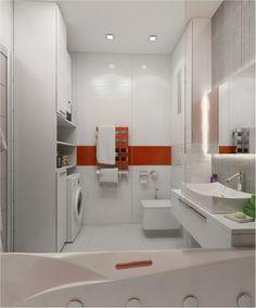Combined laundry & bathroom plan, Designer: Olga Kataevskaya - 3 of 4.