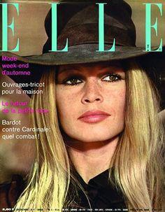 """ Brigitte Bardot - ELLE covers (1966-1971) """