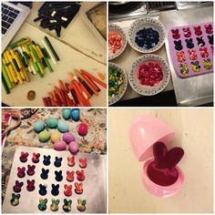 DIY Easter Bunny crayons, perfect as a toddler easter egg filler, plus other toddler friendly, non-food related easter egg filler ideas