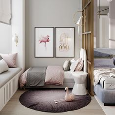 Kids room ideas for girs decoration shared bedrooms best Ideas - My Home Decor Baby Bedroom, Home Bedroom, Girls Bedroom, Kids Room Design, Room Interior Design, Baby Design, Guest Room Decor, Girl Bedroom Designs, Bedroom Ideas
