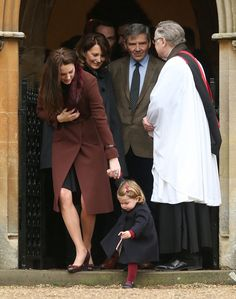 BUCKLEBURY, BERKSHIRE - DECEMBER 25:  Princess Charlotte of Cambridge, Catherine, Duchess of Cambridge, Carole Middleton and Michael Middleton attend Church on Christmas Day on December 25, 2016 in St Marks' Church in Englefield, Berkshire.  (Photo by Danny Martindale/GC Images) via @AOL_Lifestyle Read more: http://www.aol.com/article/lifestyle/2016/12/25/kate-middleton-prince-william-and-family-attend-christmas-servi/21641812/?a_dgi=aolshare_pinterest#fullscreen