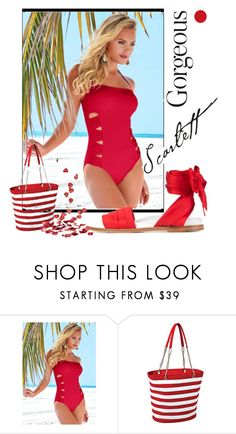 """""""ohhhh She is """"Scarlett Gorgeous"""""""" by coastalcatches ❤ liked on Polyvore featuring Venus, Picnic at Ascot and Marques'Almeida"""