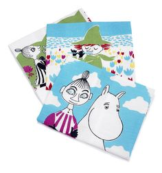 These multicolored kitchen towels bring color to your kitchen. Use them and make your cooking moments memorable. The Moomin-towels are inspired by Tove Jansson's original drawings and are authentic ©Moomin Characters™ licensed products.