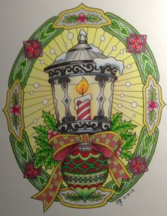 ColorIt Free Coloring Pages Colorist: Sandra Knight #adultcoloring #coloringforadults #adultcoloringpages #12FreeChristmasPages