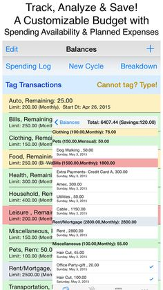 Synchronize Your Shopping List And Bills With Your Monthly Budget