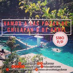 Vamos de #excursión a las #pozas de #Chilapan en #SanAndrésTuxtla saliendo de #Veracruz este 8 de abril 6am en el Colegio #CristobalColón te incluye  🚌 Transporte  🛣️ Entrada al #balneario  🛎️ Seguro de Viajero  📞01 229 1508316 📱 WhatsApp 2291476029 📨 turismoenveracruz@gmail.com 🌐 http://www.veracruztour.com/