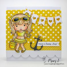 Using La-La Land Crafts Sunny Marci stamp set and dies