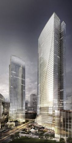 Centre 66 Tower, Wuxi, China by Aedas Architects :: 44 floors, height 245m