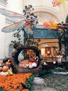 "The Bellagio Conservatory & Botanical Garden Fall display, titled ""Falling Asleep."