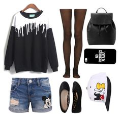 """""""Mickey Mouse"""" by sarahtonins on Polyvore featuring Disney, Fogal, Aéropostale, MANGO and Casetify"""