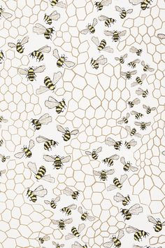 Bee Colony Wallpaper - anthropologie.com ///// Apiary Supplies - Beekeeping Supplies - Honey Supplies found at Apiary Supply | www.apiarysupply.com