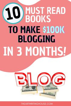 I've read so many blogging books with information that no longer applies to blogging businesses today. Click on this link to learn about my 10 best recommended books to read to make $100K in 10 months! #blogging #seo #makemoneyblogging #blog #blogger #blogpost #bloggersofinstagram ##blogs #bloggers #bloggerlife #bloggergirl #bloggermom #bloggerslife #monetize