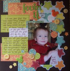 What an awesome idea for a a baby book, scrapbook or just frame it!!!!