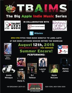 Please join us for our next big music showcase on August Doors open at 6 pm; arrive early if you want a seat, they fill up fast! Big Music, Indie Music, Your Music, August 12, Music Party, Party Entertainment, Fill, Join, Entertaining