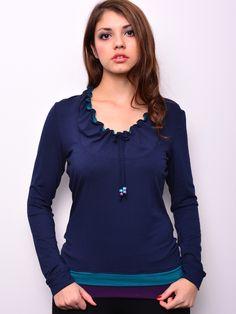 *** Jersey shirt - blau - türkis - lila - Kordel von stadtkind potsdam auf DaWanda.com