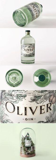 Henry Oliver Gin — The Dieline Beverage Packaging, Bottle Packaging, Brand Packaging, Packaging Design, Branding Design, Coffee Packaging, Food Packaging, Label Design, Web Design