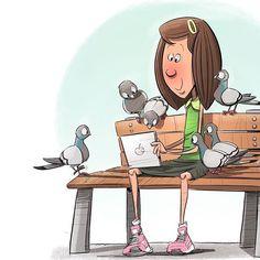 Pigeons Love You Tube Ipad Pigeons Sketchbook Instaart