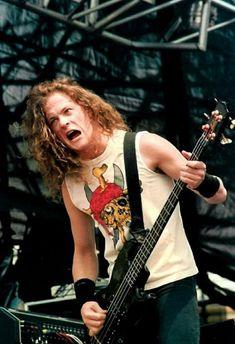 Cliff Burton, Robert Trujillo, James Hetfield, Jason Newsted Metallica, Dave Mustaine, Jazz Band, Heavy Metal Bands, Thrash Metal, Metalhead