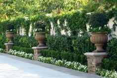 driveway entrances urns - Google Search