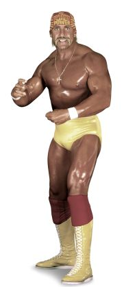 "Hulk Hogan  AKA The Greatest Wrestler of All Time  Height: 6'7""  Weight: 302 lbs.  From: Venice Beach, Calif.  Signature Move: Leg Drop  Career Highlights: WWE Champion; WCW Champion; World Tag Team Champion; two-time Royal Rumble Match winner; 2005 WWE Hall of Fame Inductee"