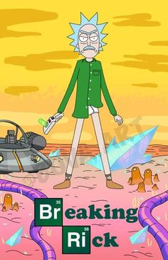 Breaking Bad/Rick and Morty Cartoon Games, Cartoon Shows, Geek Culture, Pop Culture, Rick And Morty Poster, Ricky And Morty, Funny Wallpapers, Cartoon Wallpaper, Iphone Wallpaper