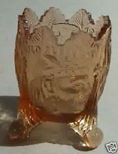 Old Sleepy Eye Toothpick Holder Amber Root Beer Glass
