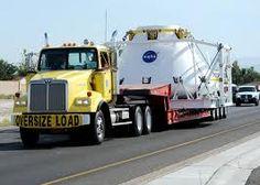 truck hauling oversized load