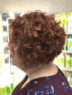 This curly cut is perfect for the summer!