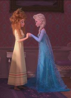 Anna and Elsa frozen fever