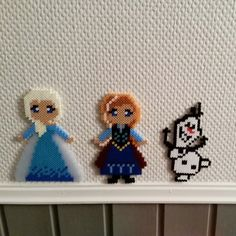 Elsa, Anna and Olaf - Frozen hama beads by carolinnea