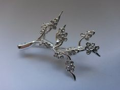 Cherry Blossom Broche made of Artclay Silver is inspired by spring; as soon as the blossoms bloom spring is in the air! Made of 10 gram Artclay Silver. Cherry Blossom, Blossoms, Brooch, Crown, Inspired, Spring, Silver, Inspiration, Jewelry