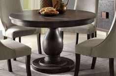 $431.52 // Dandelion Traditional Distressed Taupe Wood Dining Table
