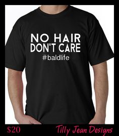 Perfect Father's Day or Birthday gift for your favorite bald guy!  Celebrate #baldlife #nohair #dontcare #fathersday #giftforhim