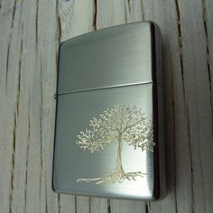 COOL ZIPPO LIGHTER. Tree of Life Hand Engraved by theraveniron, $60.00
