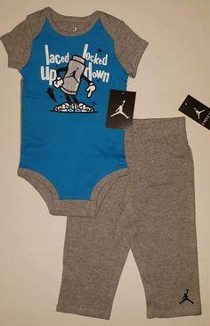 d13a8d40b8  nike air jordan logo  baby  boy romper bodysuit   pants set clothes sz  9-12 months from  29.99