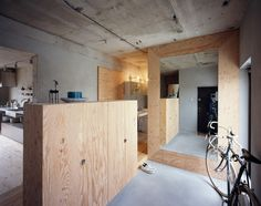 Setagaya Flat is a minimalist house located in Tokyo, Japan, designed by Naruse Inokuma Architects. The architects decided to leave the wall...