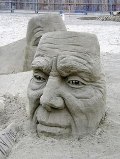 sand sculptures of faces ... Harrison Sand Sculpture Championships by bryanh, via Flickr
