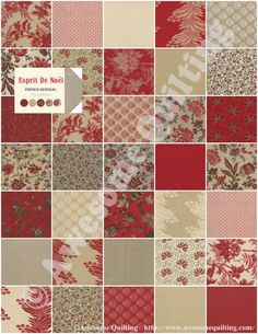 Jelly Roll -  E'Sprit De Noel - MODA quilting fabric strips by French General