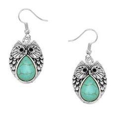 Owl Turquoise Earring