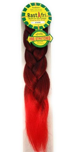 Rastafri Freed M Silky Braid Pre Stretched 1b Red Red Braiding Hair Braids Beauty Supply