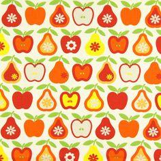 Cotton Apple Pear 3 - rotorange - Sonstige Kinderstoffe - Dekostoffe Obst & Früchte - stoffe.de