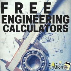 Free Science & Engineering Calculators on Calcunation.com! Great Educational tool.