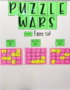 Behavior Management [Puzzle War] PBIS {editable} by Two Teachers In Fifth Behavior Incentives, Classroom Management Strategies, Behaviour Management, Class Management, Classroom Incentives, Behavior Plans, Behavior Charts, Beginning Of School, First Day Of School
