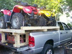 Double atv truck bed rack Truck Bed Box, Truck Boxes, Atv Racks, Truck Accesories, Best Atv, Honda Pioneer 1000, Atv Trailers, Truck Bed Covers, Boat Insurance