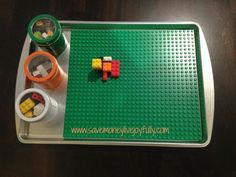 DIY Travel Lego Tray 21 DIY Lego Trays and Organization Ideas Legos are a childhood staple, no matter the age, gender, likes or dislikes - there's truly something for everyone to dive into and play with when it comes Lego Table With Storage, Lego Storage, Storage Ideas, Smart Storage, Diy Lego Table, Storage Solutions, Lego For Kids, Diy For Kids, Crafts For Kids