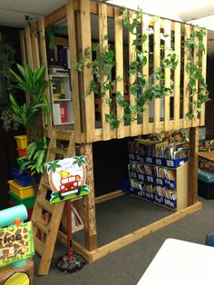 Jungle classroom library   Brittany's response: I just love this classroom library!!! I would love have such an alive space in my classroom!!!